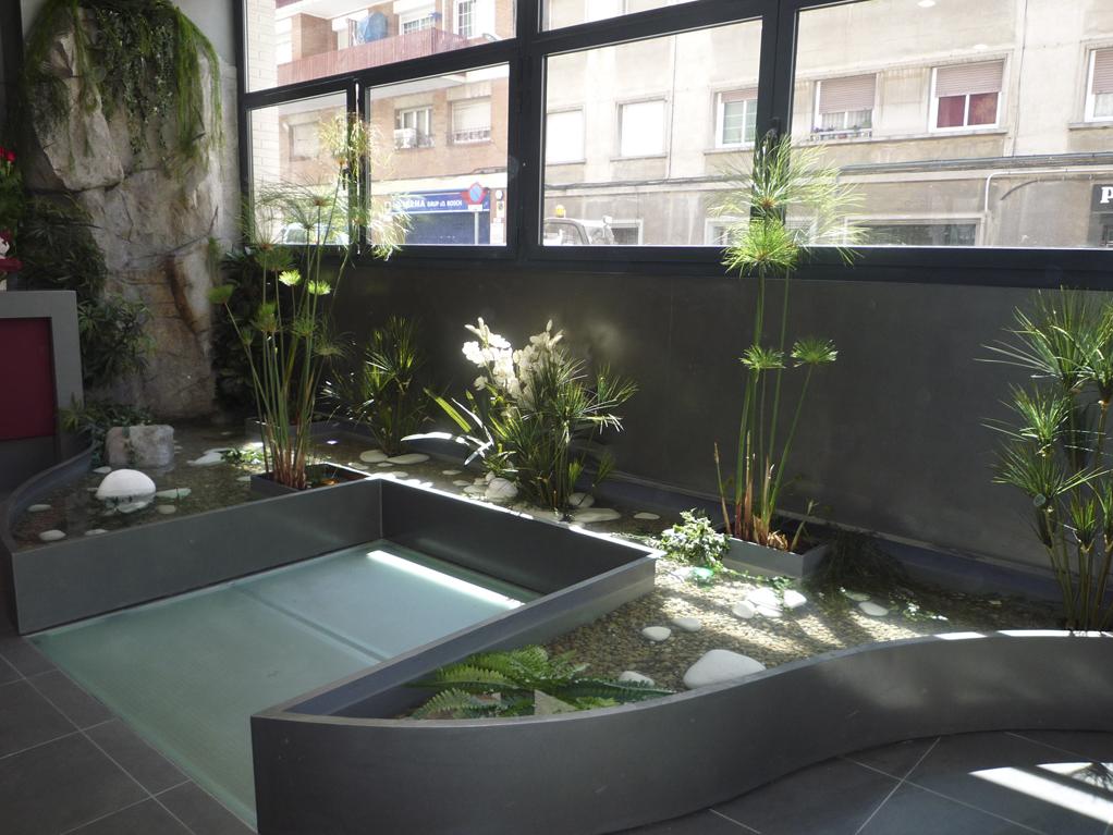 Diseño de jardines integrales en Barcelona. Composición de plantas para jardines Residencia Gran Vía Park.
